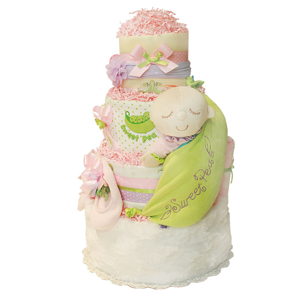 Sweet Pea! Cute Pink Diaper Cake