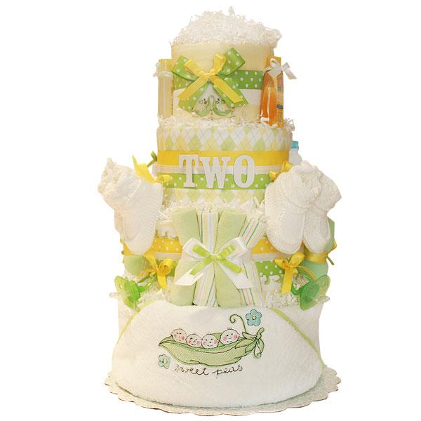 Sweet Peas! Twins Diaper Cake