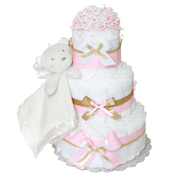 Angel Bear Diaper Cake