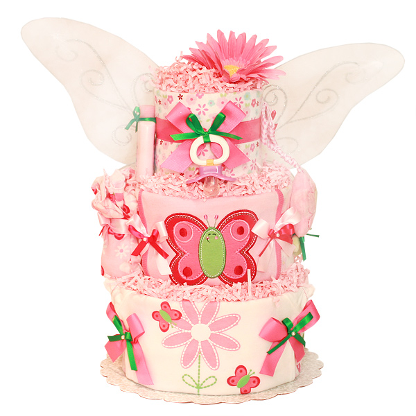 Fly Little Butterfly Diaper Cake