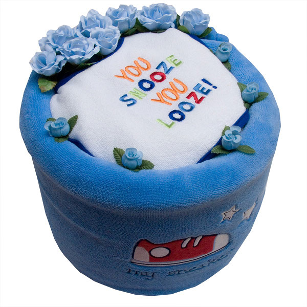 You Snooze You Loose Diaper Cake