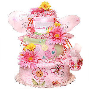 Adorable Butterfly Diaper Cake