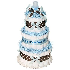 Blue Chocolate Boy Diaper Cake