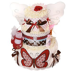 CoCaLo Butterfly Diaper Cake