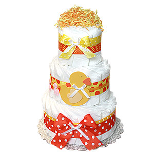 Duck Decoration Diaper Cake