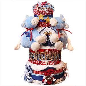 Twin Boys Cowboys Diaper Cake