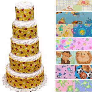 Custom Half-Way Decorated Diaper Cake