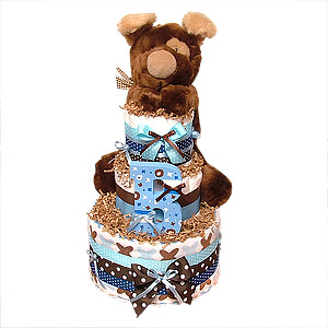 Playful Puppy Diaper Cake