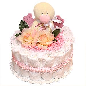 Little Pink Duck Diaper Cake
