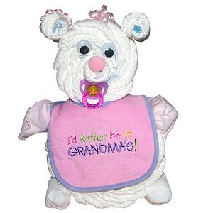 Baby Girl Diaper Bear