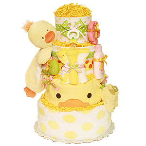 Bath Garden Duck Girl Diaper Cake
