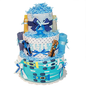 GO! Racing Car Diaper Cake