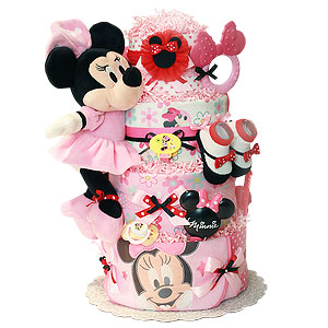 Cute Minnie Mouse Diaper Cake