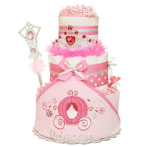 Bath Princess Diaper Cake