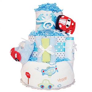 Vroom! Vroom! Red Car Diaper Cake