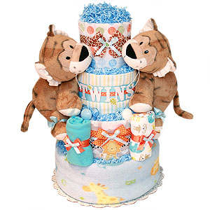 Tiger Twins Diaper Cake