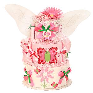 Fly Little Butterfly Diaper Cake