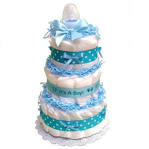 Blue It's A Boy Diaper Cake